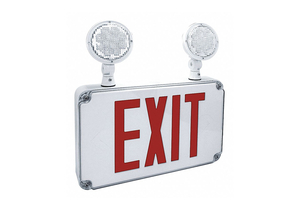 EXIT SIGN W/EMERGENCY LIGHTS RED LETTER by Fulham