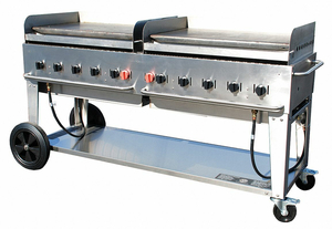 PORTABLE GAS GRIDDLE 10 BURNERS by Crown Verity