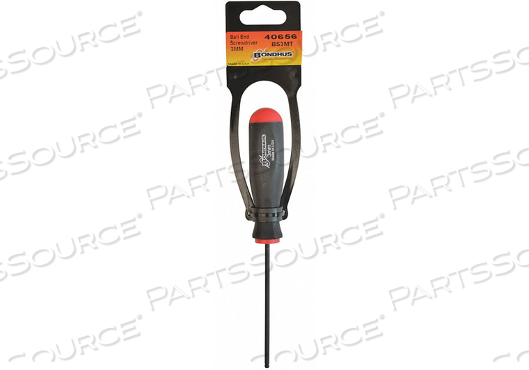 BALL END SCREWDRIVER-3.3IN 3.0MM by Bondhus