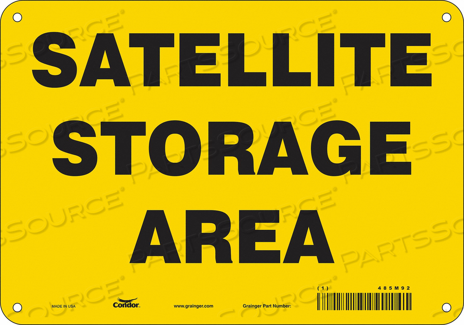 SAFETY SIGN 10 WX7 H 0.032 THICK by Condor