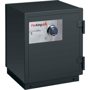 IMPACT & BURGLARY SAFE KR2021-2, 2-HOUR FIRE RATING 25-1/2 X 28-7/8 X 30-3/8 GRAPHITE by Fire King
