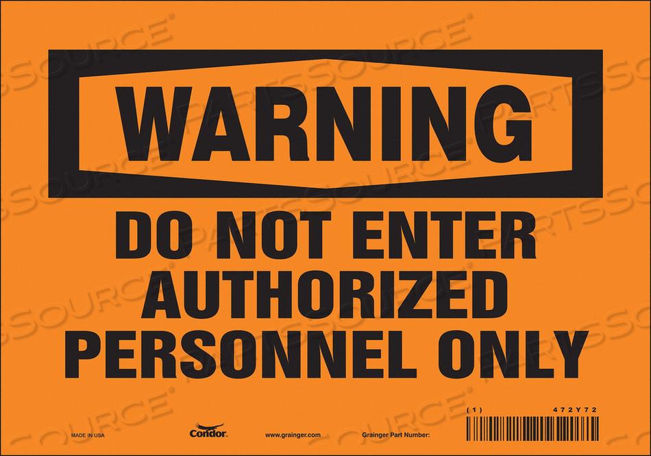 SAFETY SIGN DO NOT ENTER 7 X10 by Condor