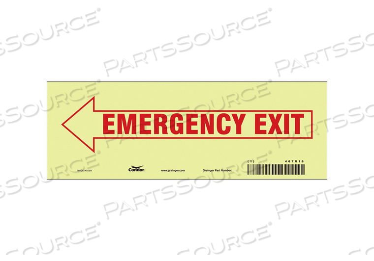 J7038 SAFETY SIGN 3.5 X10 VINYL by Condor