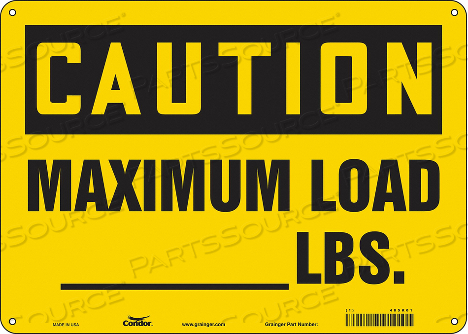 SAFETY SIGN 14 WX10 H 0.032 THICK by Condor