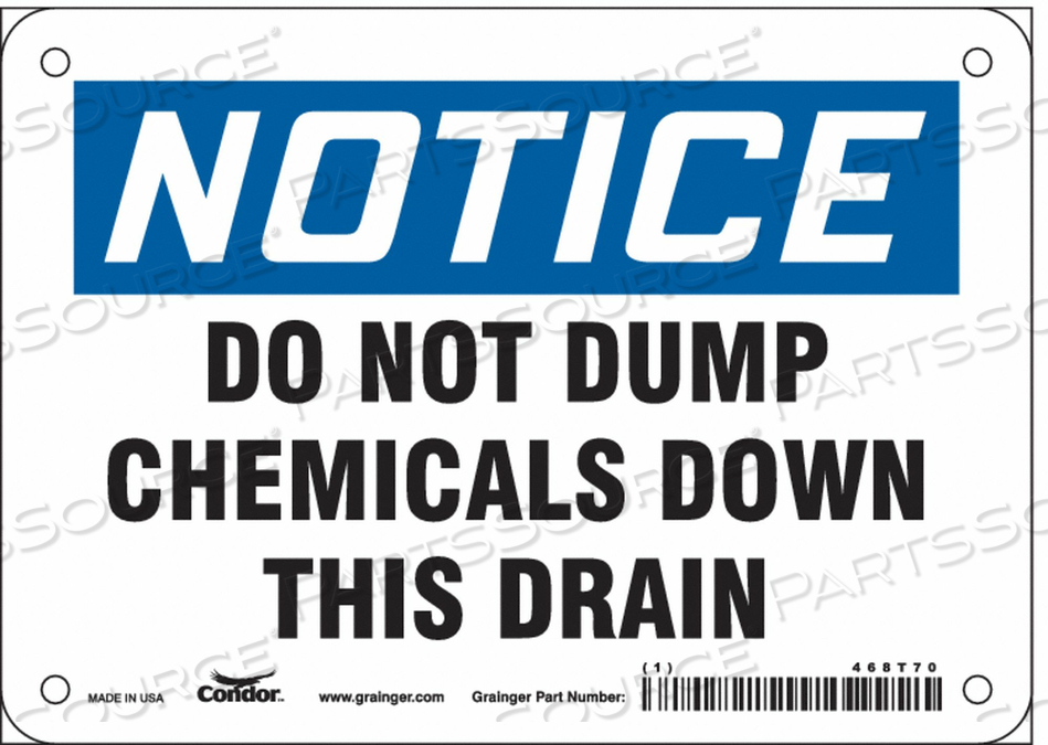 SAFETY SIGN 7 WX5 H 0.032 THICKNESS by Condor