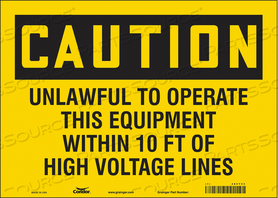 ELECTRICAL SIGN 14 W 10 H 0.004 THICK by Condor