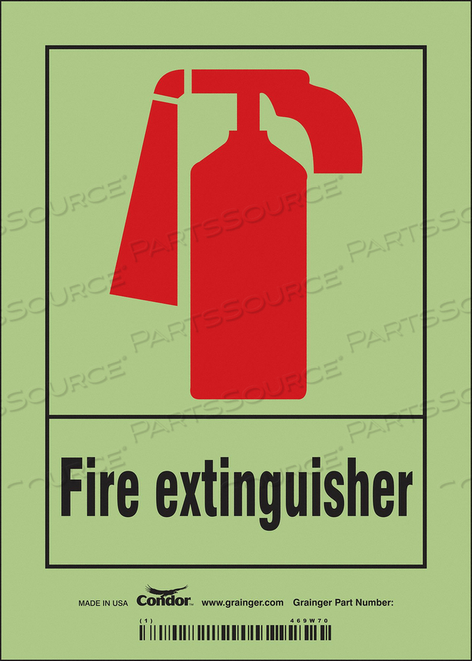 SAFETY SIGN 5 W 7 H 0.010 THICKNESS by Condor