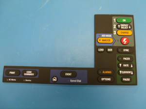 A15 ELASTOMER KEYPAD WITH PACING by Physio-Control