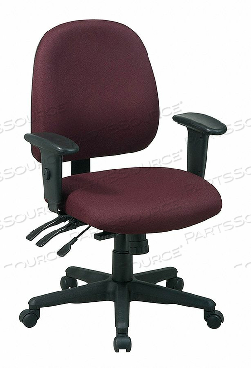 DESK CHAIR FABRIC BURGUNDY 17-21 SEAT HT by Office Star