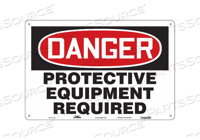 SAFETY SIGN 24 H 36 W PLASTIC by Condor
