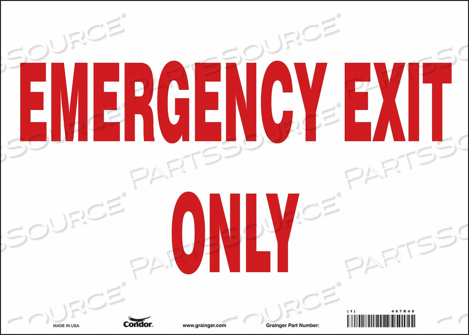 J6981 SAFETY SIGN 10 X14 VINYL by Condor
