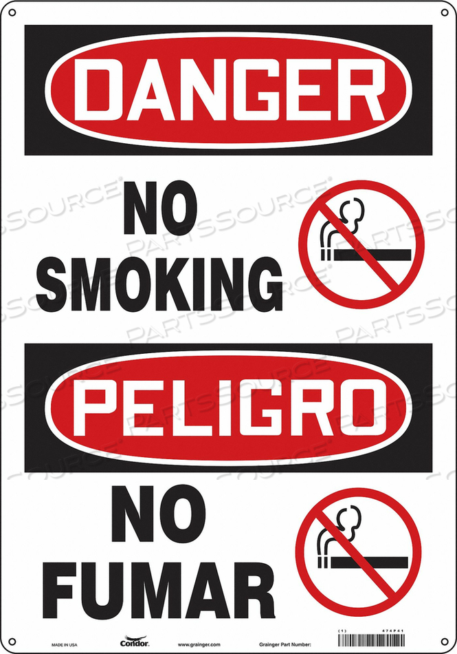 J6938 SAFETY SIGN 14 W 20 H 0.060 THICKNESS by Condor