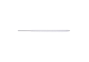 "0.19"" 24"" L TWISTED STAINLESS STEEL ANTIMICROBIAL NYLON BRISTLE CHANNEL CLEANING BRUSH by Key Surgical"