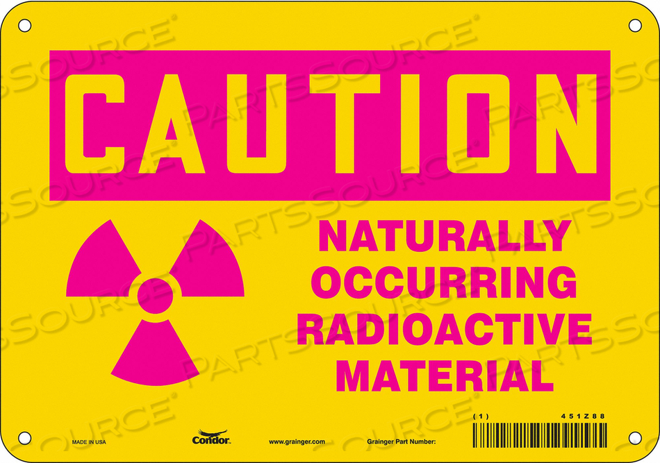 RADIATION SAFETY SIGN PLASTIC 7 H by Condor