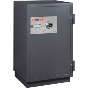IMPACT & BURGLARY SAFE KR3115-2, 2-HOUR FIRE RATING 25-1/2 X 22-7/8 X 41-1/8 GRAPHITE by Fire King