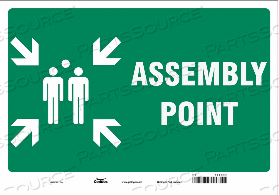 SAFETY SIGN 20 WX14 H 0.004 THICK by Condor