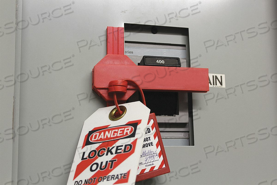 CIRCUIT BREAKER LOCKOUT 1-3/8 IN H RED by Condor