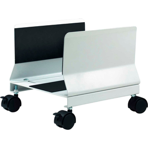 HEAVY DUTY MOBILE CPU STAND, PLATINUM by Aidata