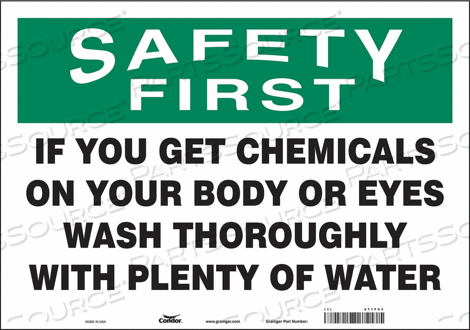 SAFETY SIGN 20 W X 14 H 0.004 THICK by Condor