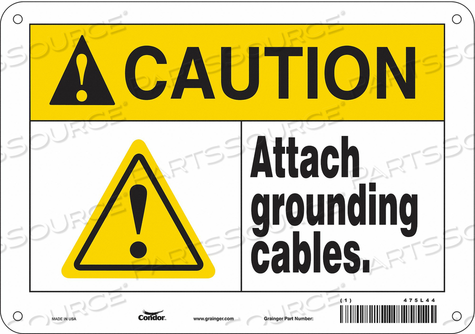 DANGER SIGN 10 WX7 H 0.032 THICKNESS by Condor