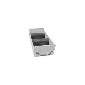 """INDIVIDUAL METAL SHELF DRAWER, 5-5/8""""W X 17""""D X 3-1/8""""H, SMOOTH REFLECTIVE WHITE by Equipto"""