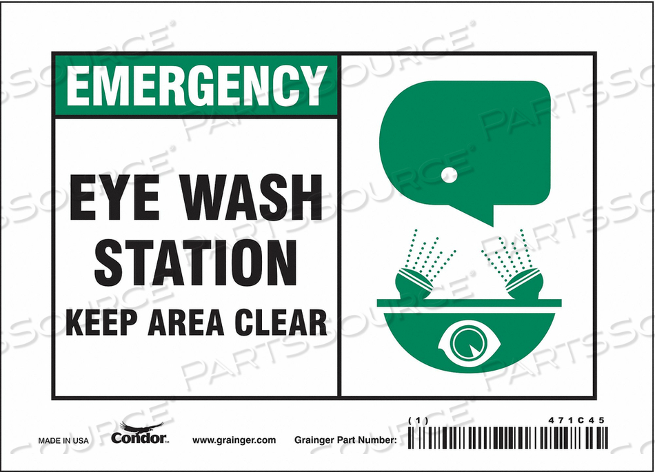 J6977 SAFETY SIGN 7 W X 5 H 0.004 THICK by Condor