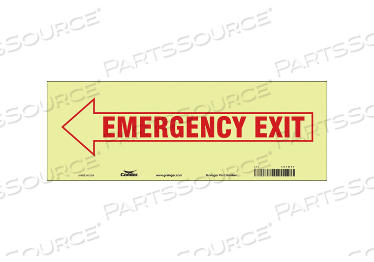 J7038 SAFETY SIGN 5 X14 VINYL by Condor