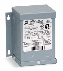 ISOLATION TRANSFORMER 120VAC 240VAC by Square D