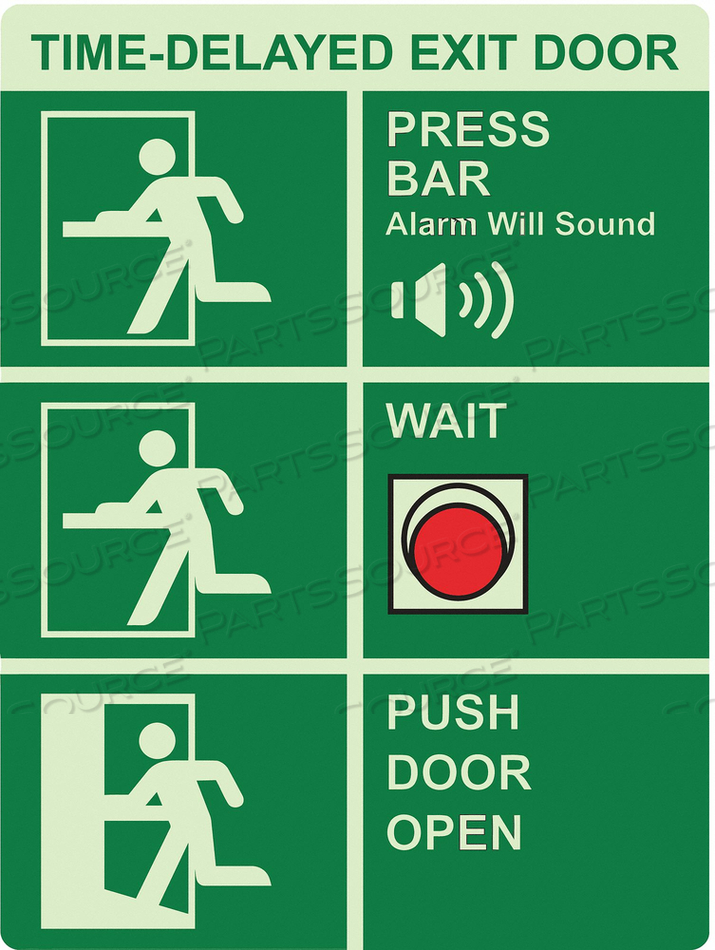 SAFETY SIGN 9 W 12 H 0.122 THICKNESS by Ability One