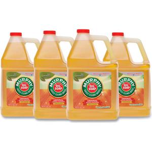MURPHY OIL SOAP ORIGINAL WOOD CLEANER, FRESH, GALLON BOTTLE, 4 BOTTLES - 01103 by Palmolive