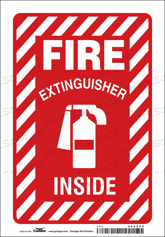 J6991 SAFETY SIGN 7 W 10 H 0.004 THICKNESS by Condor