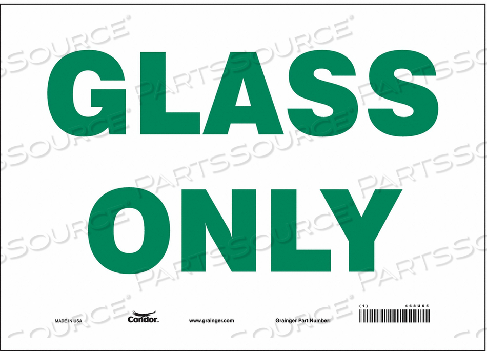 SAFETY SIGN 14 WX10 H 0.004 THICKNESS by Condor