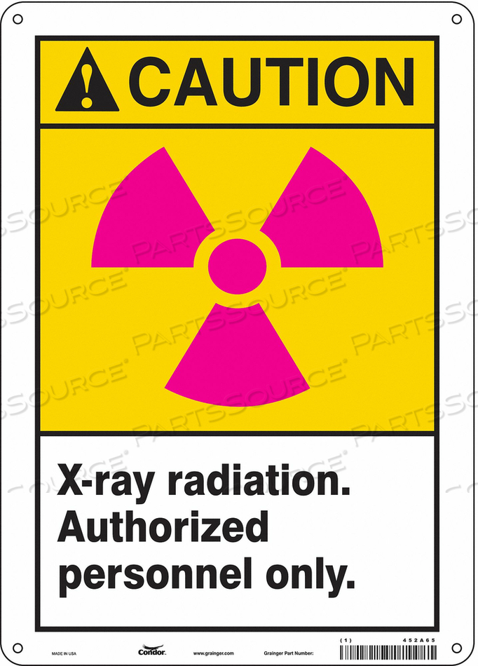 RADIATION SIGN CAUTION HEADER 14 H by Condor