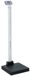 DIGITAL CLINICAL SCALE, MECHANICAL HEIGHT ROD, 600 LB/300 KG, 0.7 IN LCD by Detecto Scale / Cardinal Scale