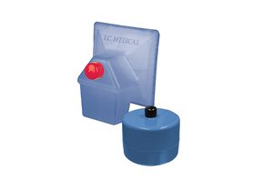 SAFEGUARD BLUE HYDROPHOBIC ULPA FILTER WITH BUILT-IN FLUID TRAP by I.C. Medical, Inc.