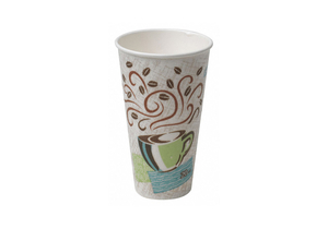 DISP. COLD/HOT CUP 8 OZ. WHITE PK1000 by Dixie