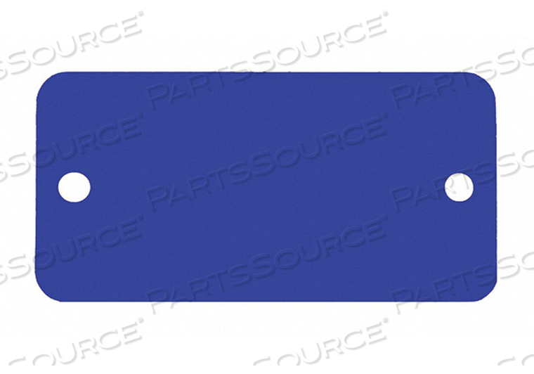 BLANK TAG RECTANGLE BLUE PK5 by C.H. Hanson