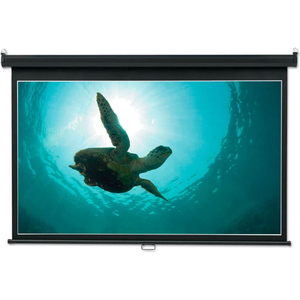 """WIDE FORMAT WALL MOUNT PROJECTION SCREEN, 65"""" X 116"""", WHITE MATTE by Quartet"""
