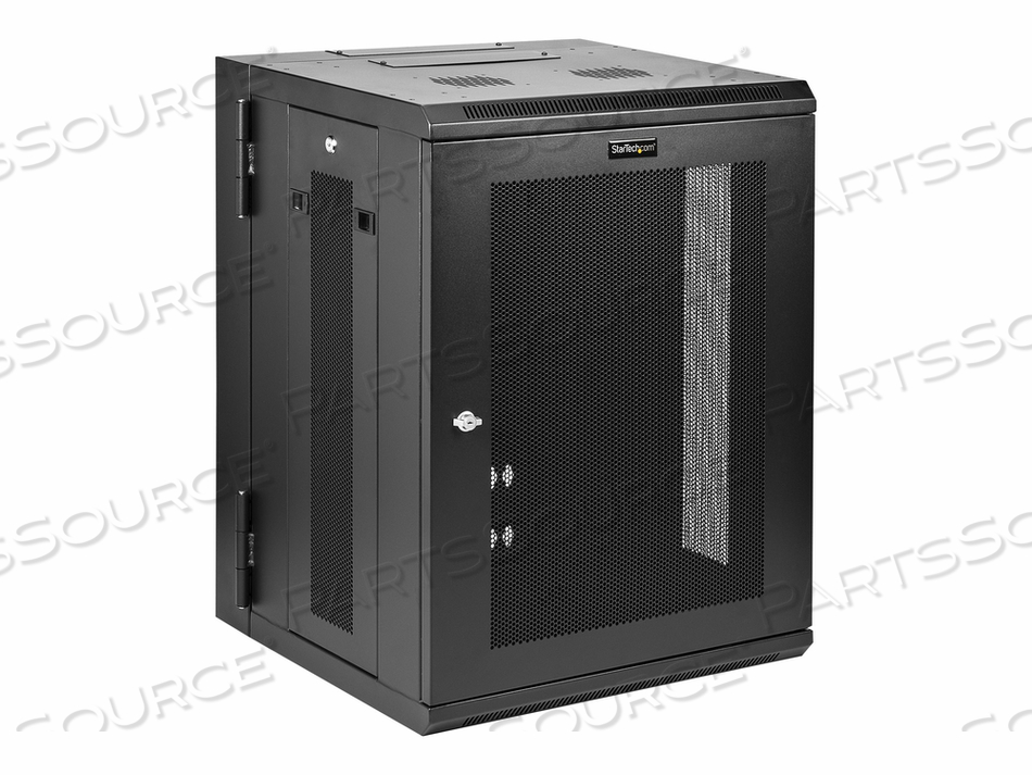 STARTECH.COM 15U WALL-MOUNT SERVER RACK CABINET - 20 IN. DEEP - HINGED - RACK ENCLOSURE CABINET - WALL MOUNTABLE - BLACK - 15U by StarTech.com Ltd.