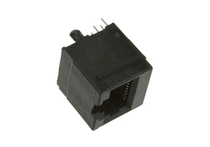 10P 10C VERTICAL UNSHIELDED JACK MODULAR CONNECTOR - BLACK by Digi-Key