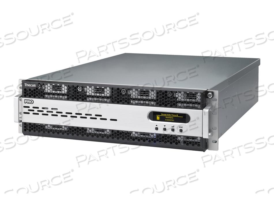 THECUS TECHNOLOGY N16000PRO - NAS SERVER - RACK-MOUNTABLE - SATA-600 / SAS 2.0 / ESATA-600 - HDD - RAID 0, 1, 5, 6, 10, 50, JBOD, 60 - RAM 8 GB - GIGABIT ETHERNET - ISCSI - 3U by Sharp Electronics Corporation