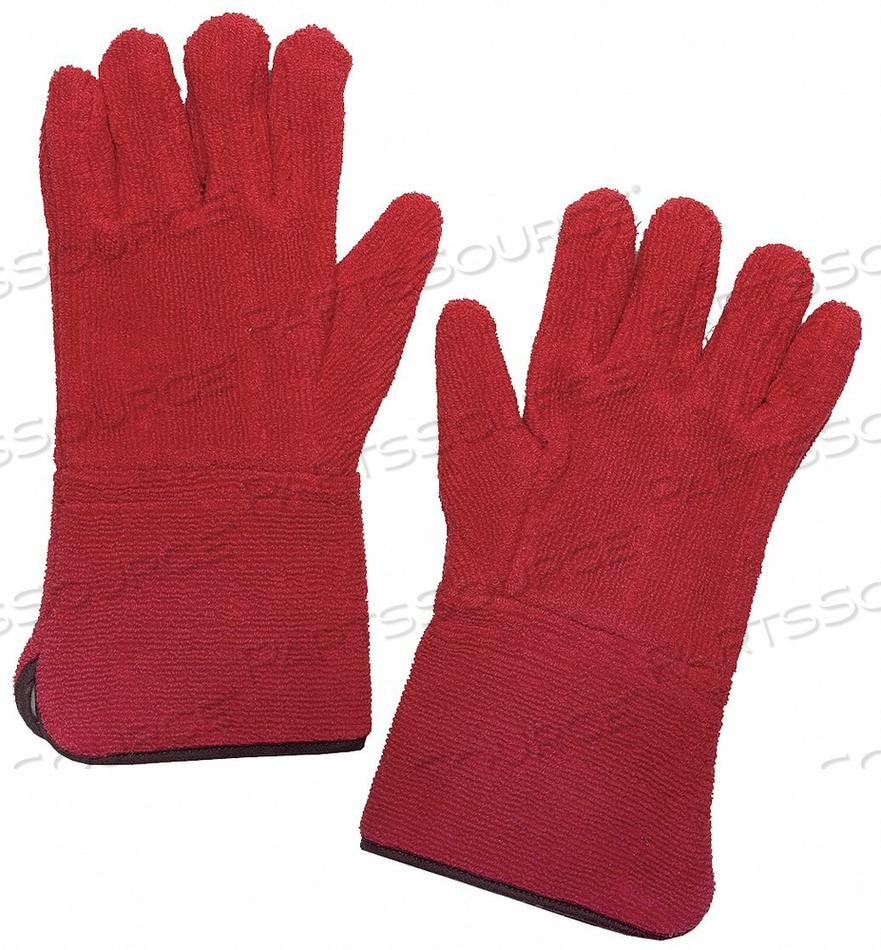HEAT RESIST GLOVES RED XL TERRY CLOTH PR by Condor