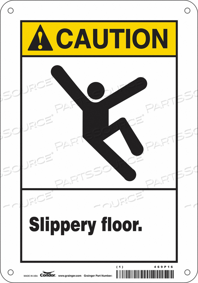 SAFETY SIGN 7 W 10 H 0.060 THICKNESS by Condor