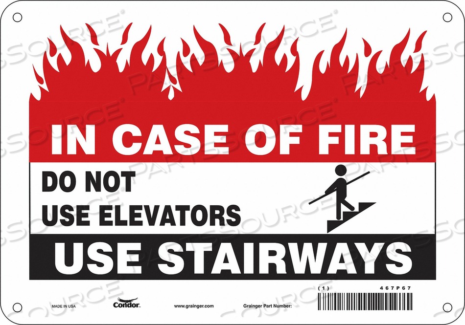SAFETY SIGN 7 X10 ALUMINUM by Condor