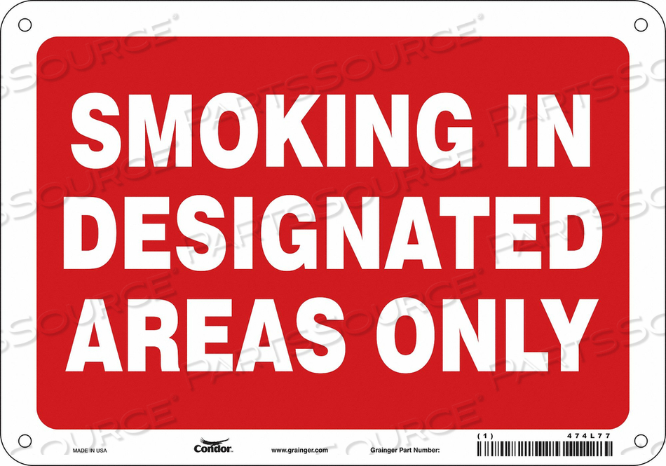 J7032 SAFETY SIGN 10 W 7 H 0.055 THICKNESS by Condor