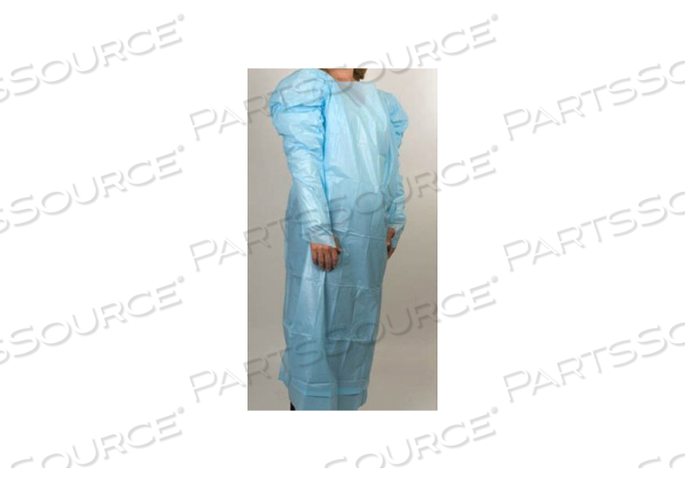PROTECTIVE PROCEDURE GOWN ONE SIZE FITS MOST BLUE NONSTERILE AAMI LEVEL 2 DISPOSABLE (15 PER BOX) by McKesson