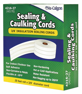 SEALING CORDS 3/8 X 25 FT ROLL WHITE by Nu-Calgon
