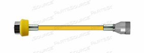 CONDUCTIVE HOSE ASSEMBLY, 1/4 IN ID, AIR, YELLOW, DISS HAND TIGHT X FEMALE CONNECTION, 5 FT by Amvex (Ohio Medical, LLC)