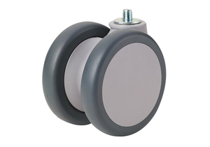 100 MM X 102 MM REPLACEMENT FRONT TWIN CASTER, POLYPROPYLENE SWIVEL by Arjo Inc.