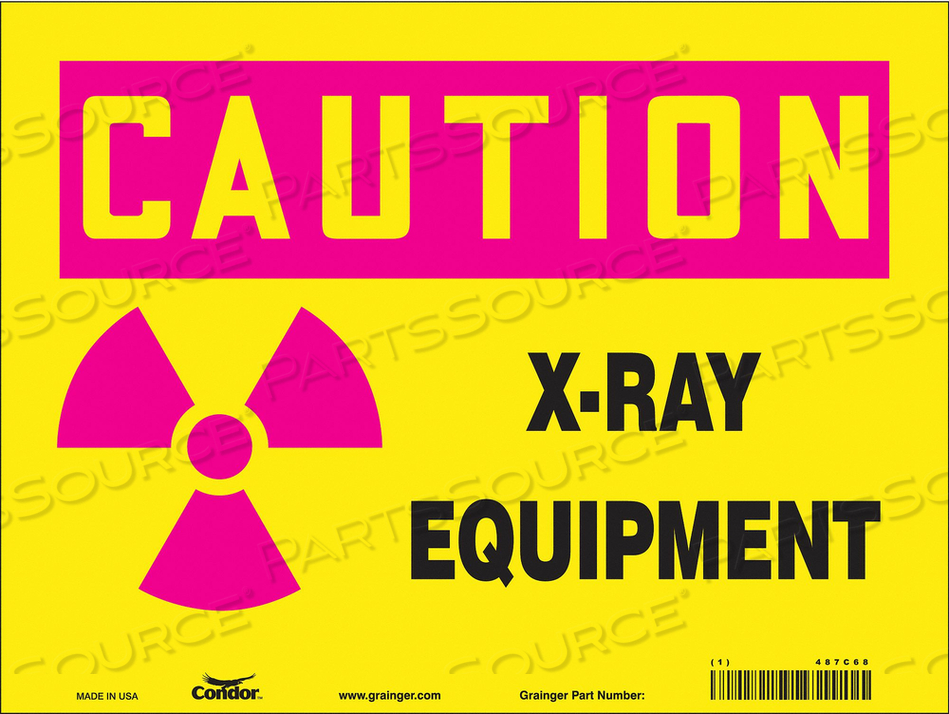 RADIATION SIGN 12 W 9 H 0.055 THICKNESS by Condor
